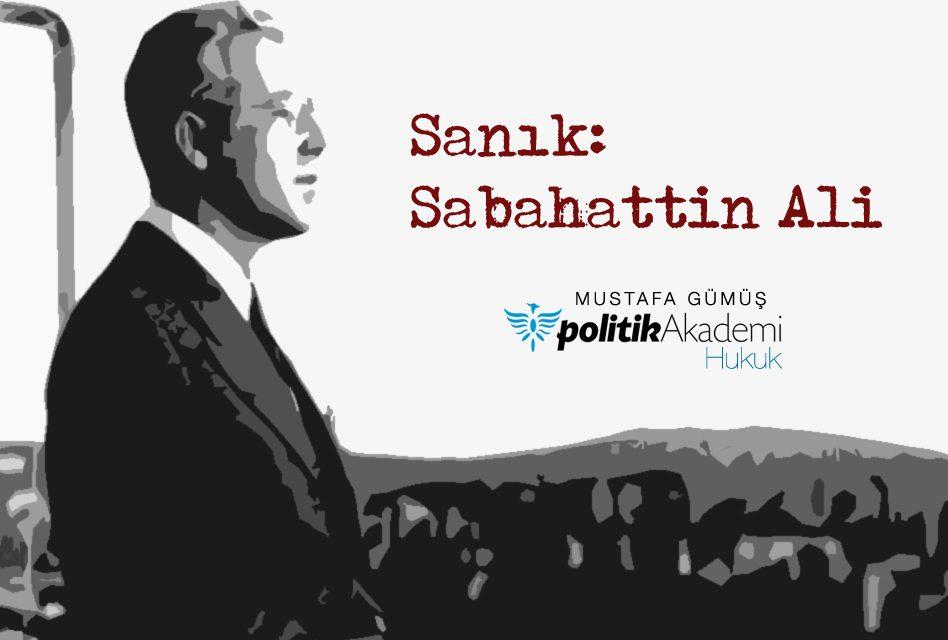 Sanık: Sabahattin Ali